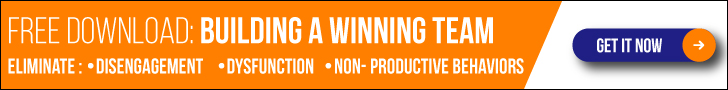 Building a Winning Team CTA Banner in orange